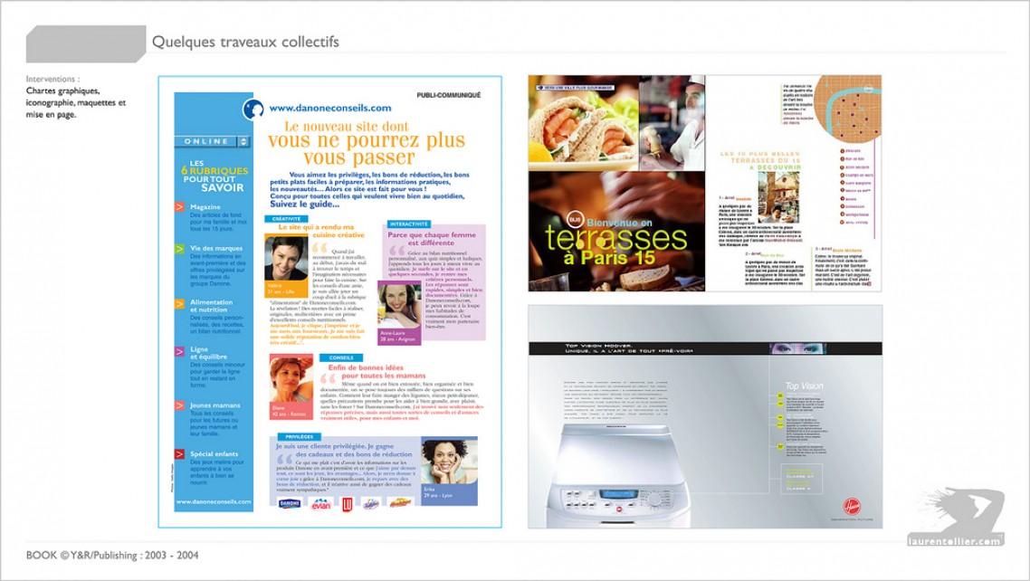 Danone - publireportage / Hover - Annonce presse / RATP - publi-reportage